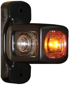 Breddmarkeringslykta Vit, röd & orange LED