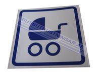 Skylt barnvagn fyrkantig
