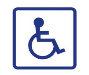 Skylt rullstol fyrkantig