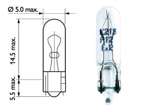 Glödlampa till SWF kontakter